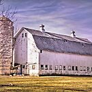 Big Wisconsin White Barn by Marcia Rubin
