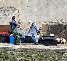 fisherman at work by Anne Scantlebury