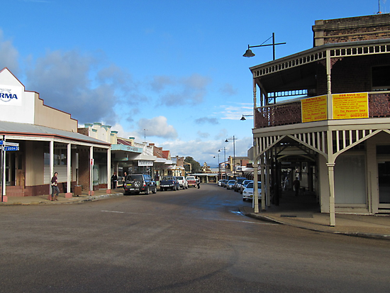 Corner of Shopping Precinct! 'Gulgong', New South Wales. by Rita Blom