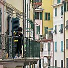 street scene in Riomaggiore by Anne Scantlebury