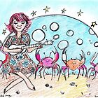 'Without You'...Dancing Crabs and Ukulele  by SarahParsonsArt