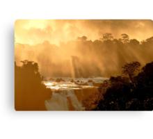 sunrays at Iguassu Falls Canvas Print