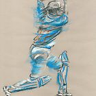 Tendulkar - batting sketch by Paulette Farrell