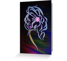 Lady Glitter Greeting Card