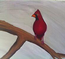 Cardinal in Winter  by ForrestBrady