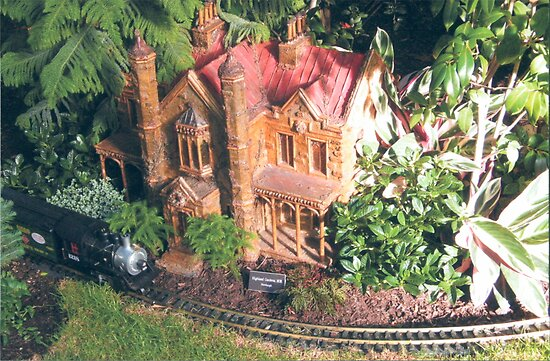 Model Trains, Model Buildings, New York Botanical Garden Train Show, Bronx,New York by lenspiro