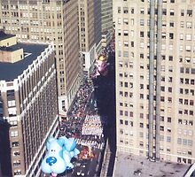 Aerial View, Macy's Thanksgiving Day Parade, New York by lenspiro