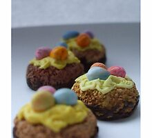 tiny eggy cakes by Babz Runcie