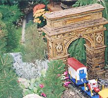 Model Washington Square Arch, Model Trains, New York Botanical Garden Train Show, Bronx, New York by lenspiro