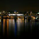 London skyline by night by Magdalena Warmuz-Dent