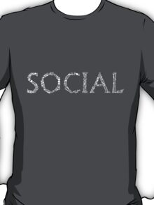 Social Network Typography T-Shirt