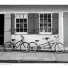 French Quarter bicycle Shop by Sandra Russell