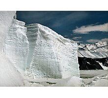 Tabular Icebergs and Fast Ice Photographic Print