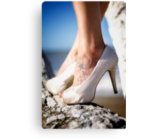 All the girls like sparkles. Canvas Print