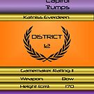 Capitol Trumps - Katniss Everdeen by amanoxford