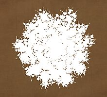 Queen Anne's Lace in Brown & White by Elle Campbell