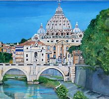 The view of the Vatican city by Teresa Dominici
