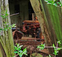 Old Case Farm Tractor by Ron Russell