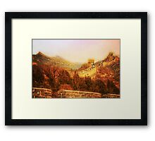 The Great Wall  Framed Print
