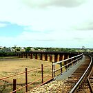Tailem Bridge - Rail line by Chris Chalk