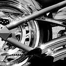 Chrome wheel and pipes by ©  Paul W. Faust