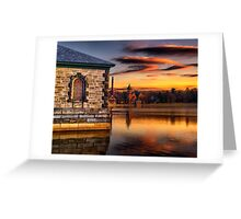 Sunset at Waterworks Museum Greeting Card