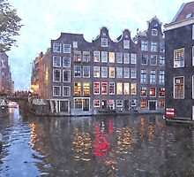 Canal Houses in Amsterdam, Holland by BillKret