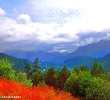 Mountains and valleys by Erika Price