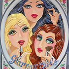 Snow White, Goldilocks and Little Red Riding Hood by nancy salamouny