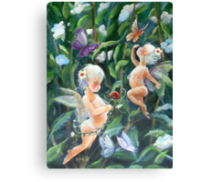 Happiness in my Garden Canvas Print