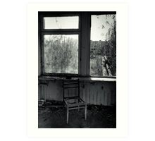 A Seat by the Window Art Print
