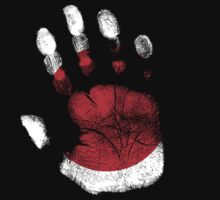Flag Handprint - Japan (Faded) by SkinnyJoe