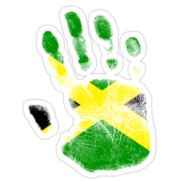 Flag Handprint - Jamaica (Faded) by SkinnyJoe