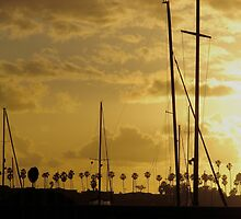 Sunset over Lido Island, Newport Beach CALIFORNIA by Joni  Rae