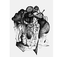8 by 10 inch ink drawing on watercolor paper Photographic Print