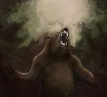 Bear Speed Paint Digital Painting by JamieTifft