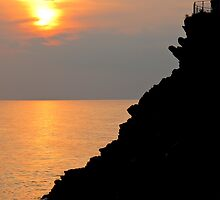 sunset in Cinque Terre by Anne Scantlebury