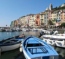boats at Portovenere by Anne Scantlebury
