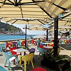 sunshade in Portovenere by Anne Scantlebury