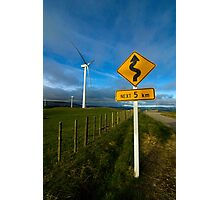 Windy road ahead Photographic Print