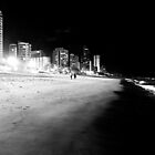 Night Walk on Surfers' Paradise Beach by Julie Sleeman