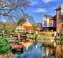 Thames Lock - Weybridge - HDR by Colin J Williams Photography