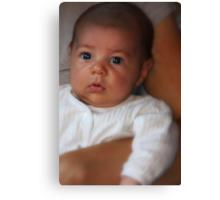 """ Parker, 7 weeks old...."" Canvas Print"