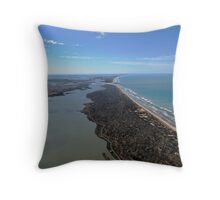 The Murray River Mouth Throw Pillow