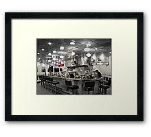 """""""The Diner"""" Framed Print"""