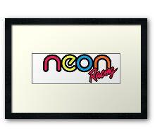 Neon Racing Framed Print
