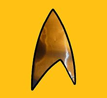 Star Trek iphone gold by Margaret Bryant