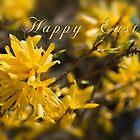 Easter card - forsythia by Magdalena Warmuz-Dent