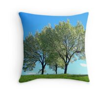 Spring trees, New York City  Throw Pillow