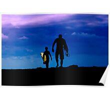 Sunrise Surfers Poster